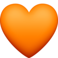 Orange Heart on Facebook 4.0