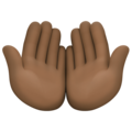 Palms Up Together: Dark Skin Tone on Facebook 4.0