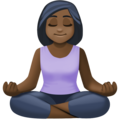 Person in Lotus Position: Dark Skin Tone on Facebook 4.0