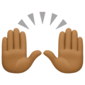 Raising Hands: Medium-Dark Skin Tone on Facebook 4.0