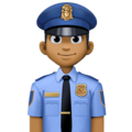 Police Officer: Medium-Dark Skin Tone on Facebook 4.0