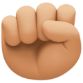 Raised Fist: Medium-Light Skin Tone on Facebook 4.0