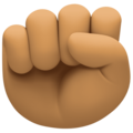 Raised Fist: Medium Skin Tone on Facebook 4.0