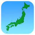 Map of Japan on Facebook 4.0