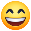 Grinning Face With Smiling Eyes on Facebook 4.0
