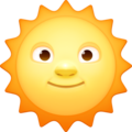 Sun With Face on Facebook 4.0
