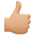 Thumbs Up: Medium-Light Skin Tone on Facebook 4.0