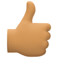 Thumbs Up: Medium Skin Tone on Facebook 4.0