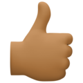 Thumbs Up: Medium-Dark Skin Tone on Facebook 4.0