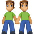 Men Holding Hands: Medium Skin Tone on Facebook 4.0