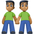 Men Holding Hands: Medium-Dark Skin Tone on Facebook 4.0