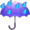 Umbrella with Rain Drops on Facebook 4.0