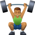 Person Lifting Weights: Medium Skin Tone on Facebook 4.0