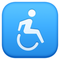 Wheelchair Symbol on Facebook 4.0