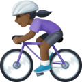 Woman Biking: Dark Skin Tone on Facebook 4.0