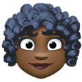 Woman: Dark Skin Tone, Curly Hair on Facebook 4.0