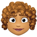 Woman: Medium Skin Tone, Curly Hair on Facebook 4.0