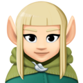 Woman Elf: Light Skin Tone on Facebook 4.0