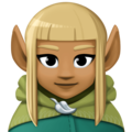 Woman Elf: Medium-Dark Skin Tone on Facebook 4.0