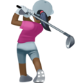 Woman Golfing: Dark Skin Tone on Facebook 4.0