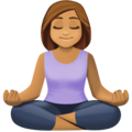 Woman in Lotus Position: Medium Skin Tone on Facebook 4.0