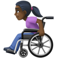 Woman in Manual Wheelchair: Dark Skin Tone on Facebook 4.0