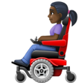 Woman in Motorized Wheelchair: Dark Skin Tone on Facebook 4.0