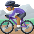 Woman Mountain Biking: Medium-Dark Skin Tone on Facebook 4.0