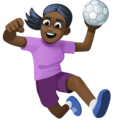 Woman Playing Handball: Dark Skin Tone on Facebook 4.0