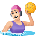 Woman Playing Water Polo: Light Skin Tone on Facebook 4.0