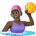 Woman Playing Water Polo: Dark Skin Tone on Facebook 4.0