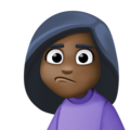 Woman Pouting: Dark Skin Tone on Facebook 4.0