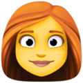 Woman: Red Hair on Facebook 4.0