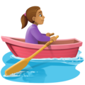 Woman Rowing Boat: Medium Skin Tone on Facebook 4.0
