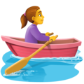 Woman Rowing Boat on Facebook 4.0