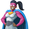 Woman Superhero: Dark Skin Tone on Facebook 4.0