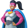 Woman Superhero: Medium-Dark Skin Tone on Facebook 4.0