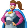 Woman Superhero: Medium Skin Tone on Facebook 4.0