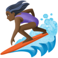 Woman Surfing: Dark Skin Tone on Facebook 4.0