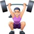 Woman Lifting Weights: Light Skin Tone on Facebook 4.0
