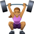 Woman Lifting Weights: Medium Skin Tone on Facebook 4.0