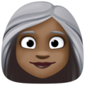 Woman: Dark Skin Tone, White Hair on Facebook 4.0