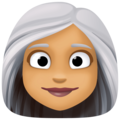 Woman: Medium Skin Tone, White Hair on Facebook 4.0