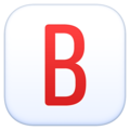 B Button (Blood Type) on Facebook 13.1