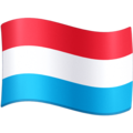 Flag: Luxembourg on Facebook 13.1