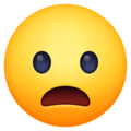 Frowning Face with Open Mouth on Facebook 13.1