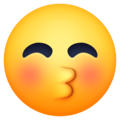 Kissing Face with Closed Eyes on Facebook 13.1