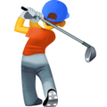 Person Golfing on Facebook 13.1