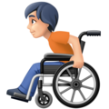 Person in Manual Wheelchair: Light Skin Tone on Facebook 13.1