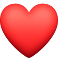 Red Heart on Facebook 13.1